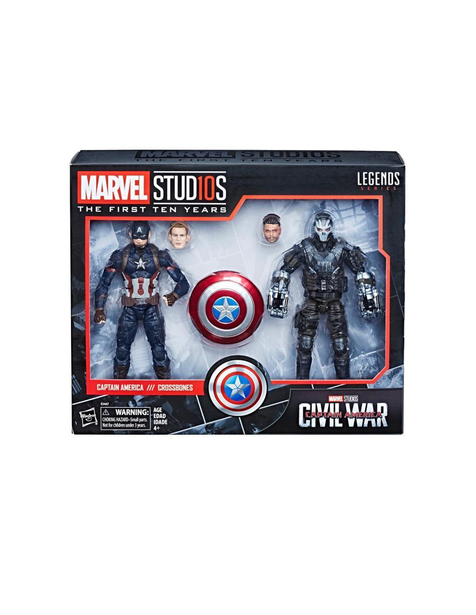 3608f9448 Set de Figuras Capitán América y Crossbones Hasbro Marvel