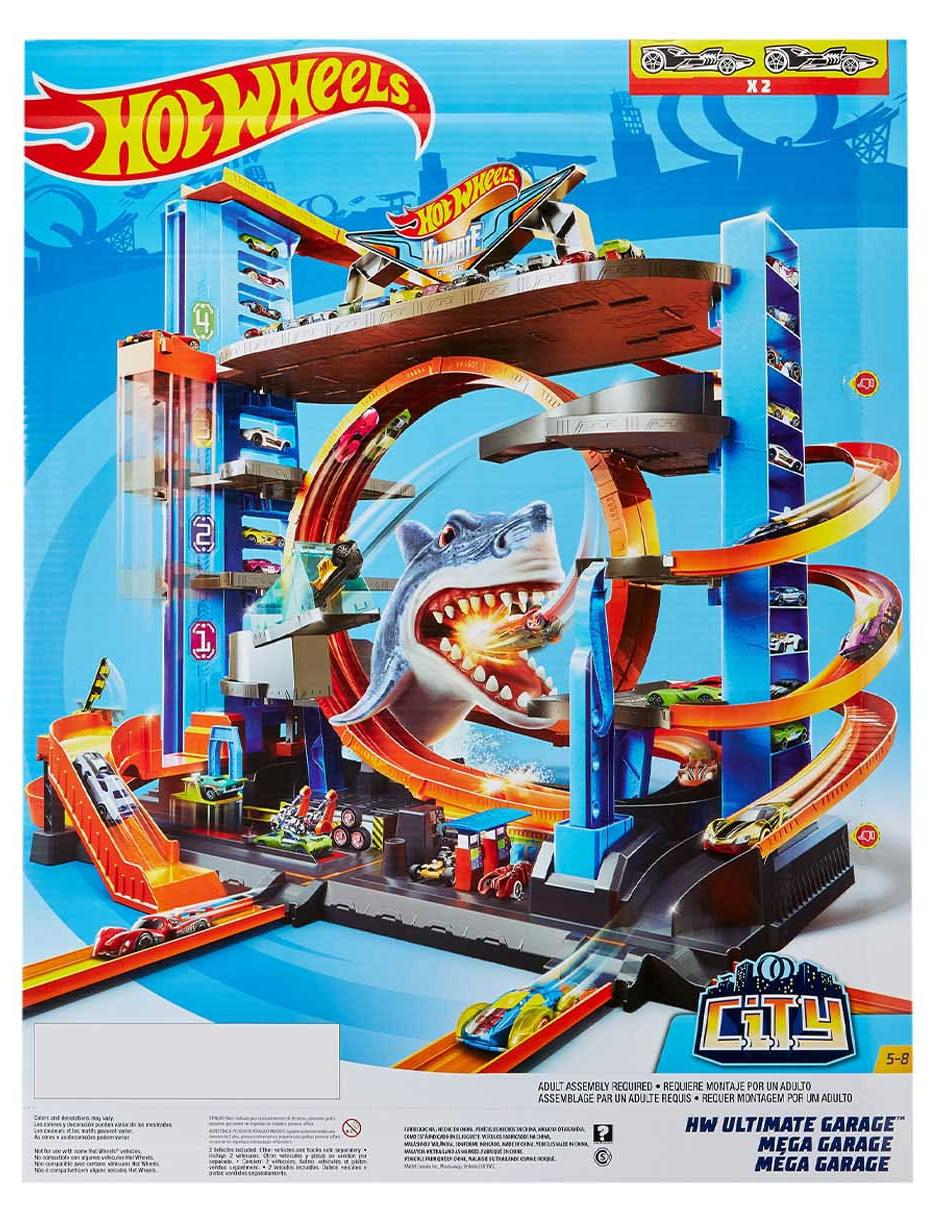 Pista Mega Garage Hot Wheels